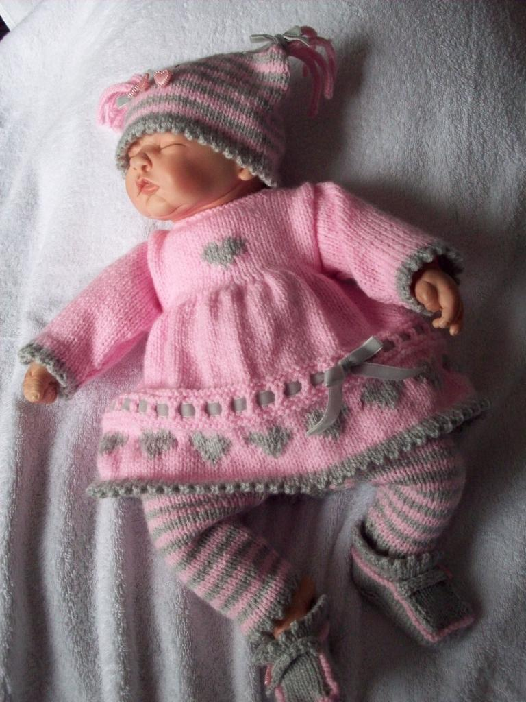 Baby Doll Knitting Patterns | Dress images
